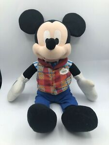 Official Disney Parks Farmer Mickey Mouse Plush Kids Soft Stuffed Toy Animal