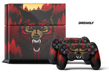 Designer Skin for PS4 Playstation 4 Console System & 2 Controller Decals DIREWLF
