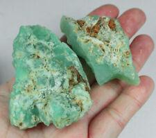 311Ct Natural Brazilian Green Opal Facet Rough Specimen YOA45