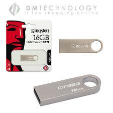 Kingston Technology DataTraveler SE9 16GB 16GB USB 2.0 Tipo-A Argento unità fla