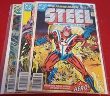 Steel The Indestructible Man #1, 2, 5,