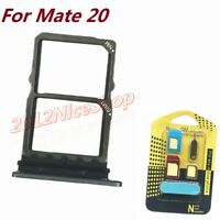 New OEM Nano Sim Card SD Card Tray Holder For Huawei Mate 20 + Sim Adapter