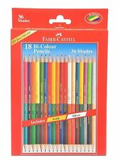 Faber-castell Dual Sided Bi - Colour Pencils in Hexagonal Shape, Set of 18