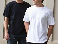 Men's Plain 100% Cotton Blank T-shirt Basic Tee White Black sizes XS - XXXL New
