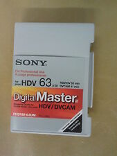 SONY PHDVM-63DM HDV MINIDV MINI DV DIGITAL MASTER TAPE KASSETTE