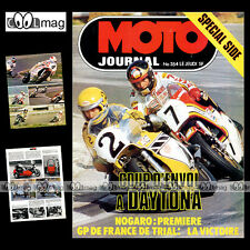 MOTO JOURNAL N°354 HUBERT RIGAL KENNY ROBERTS PUCH 125 CROSS SIDE-CAR 1978