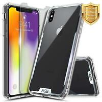 For iPhone XS Max Case | [Clear Transparent] Bumper Shockproof Protective Cover