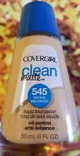 COVERGIRL CLEAN MATTE OIL CONTROL FOUNDATION  FACE MAKEUP 545 WARM BEIGE WOMAN