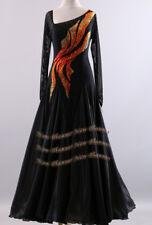 B7289 Women Ballroom standard Waltz Tango Rhythm uk 8 us 6 Dance Dress black