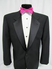 Valentino Uomo Black Two Button Tuxedo Dinner Jacket Notch Lapel 44S
