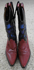 NINE WEST Women's Western Style Leather Cowboy Boots Shoes Size 7.0