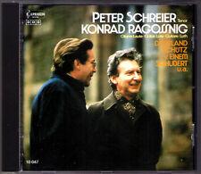 Peter SCHREIER & Konrad RAGOSSNIG Dowland Schütz Bach Von Einem Schubert CD 1986