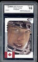 2005 Sidney Crosby Showcase Face Grey Border rookie  Gem Mint 10