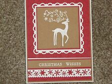 Dasher Christmas Wishes Handmade Card Kit Some Stampin Up 4 cards