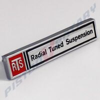 RTS RADIAL TUNED SUSPENSION Boot Lid Badge NEW for Holden HZ WB Torana UC Trunk