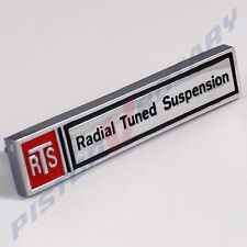 RTS RADIAL TUNED SUSPENSION Boot Lid Badge ,New for Holden VB VC Commodore Trunk