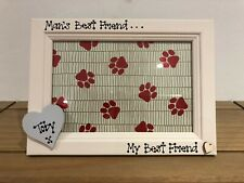 Dog Cat Personalised Photo Frame Memorial Bereavement Remembrance Wood Heart 4x6