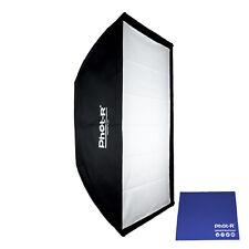 Phot-R 70x100cm Strip Softbox Elinchrom Mount Speedring Lighting Chamois Cloth