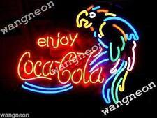 "19""X15"" Enjoy Coka Cola Soda Drink PARROT Beer Bar Neon Light Sign FREE SHIPING"