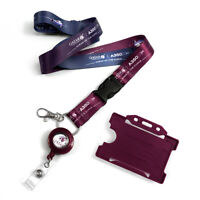 Qatar Airways A350 Dye Sublimation Lanyard Set