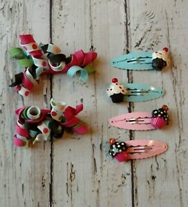 Gymboree FAIRY TALE FOREST Multicolored Curly Hair Clips NWT GIRLS Barrettes