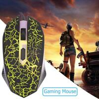 K1901 Gaming Mouse Gamer 1600DPI 4 Buttons USB Computer Wired Silent Mice UK