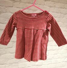 Minoti Baby Girl Red And Tan Stripe Dress Age 6-12 Months