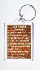 Jack Russell Rules - 'It's Mine!' Novelty Dog Owners Keyring, Ideal Present/Gift