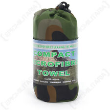 Microfiber Travel Towel - Small Outdoors Festival Camping Carry-bag 80x40 cm New