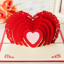 3D Luxury Handmade Postcards Greeting Cards Birthday Valentine's Day Gift