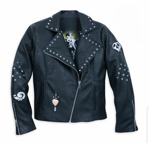 Disney Black Faux Leather Moto Villains Jacket – Size 2XL – NEW with Tags