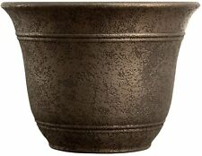 """Flower Pot Large Planter  Garden Bronze Finish 16"""" Inch Width Indoor Outdoor S"""