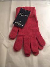 Johnston's Of Elgin Lambswool Gloves Pink BNWT