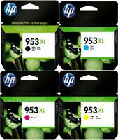 4 CARTUCCE ORIGINALI HP 953 XL PER HP OfficeJet Pro 8715 8718 8719 8720 8725