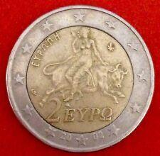 monnaie  Grece 2 euro 2002 avec s dans etoil