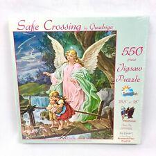 Safe Crossing Quadriga 550 Pc Sunsout Religious Angel Children Jigsaw Puzzle New