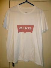 """ELVIS PRESLEY - VINTAGE """"ELVIS LOGO"""" WHITE T-SHIRT"""