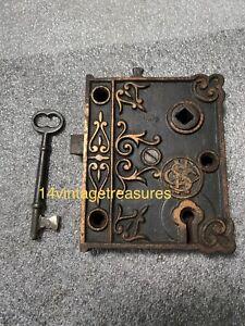 Antique Shapleigh Hardware  Rim Lock with Skeleton Key