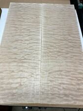 #399 Quilted Maple Carve Top Luthier Guitar Figured Wood Bookmatched Set