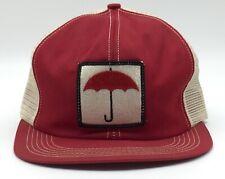 Vintage Red Umbrella 70s 80s USA K-Brand Red Trucker Hat Cap Snapback Citigroup