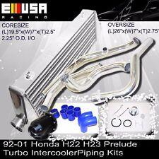 Intercooler & Intercooler Piping Kits& BOV FOR92-01 Honda Prelude H22 H23 Turbo