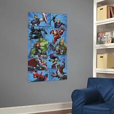 MARVEL TEAM MuRaL Wall Decals Room Party Stickers IRON MAN HULK SPIDERMAN THOR