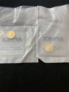 Two 2010 1/10 oz gold american eagle coins