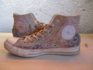 CONVERSE ALL-STAR rose patchwork fleur rare collection 38 (US men 5,5 Wo's 7,5 )