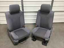 2009-2014 FORD F150 FRONT SEATS MANUAL GRAY CLOTH OEM 09 10 11 12 13 14