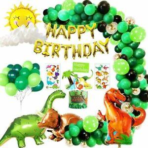Junge Kindergeburtstag Deko Dinosaurier,Happy Birthday Girlande Grün Luftballons