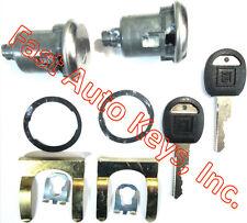 NEW PAIR BUICK GM CHEVY OEM DOOR LOCKS SET KEYED CYLINDER W/2 OEM GM LOGO KEYS
