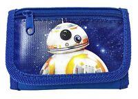 "New Disney Star Wars ""The Force Awaken"" New Robot BB-8 Tri Fold Wallet - Blue"