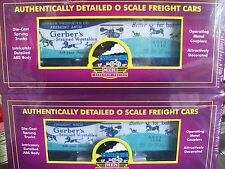 Gerbers Strained Vegetables 36' Woodsided Reefer Cars 2-Pack  # 1008 & 1010  New