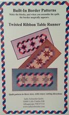 Table Runner PatternTwisted Ribbon Built In Border Patterns-FREE US SHIPPING!